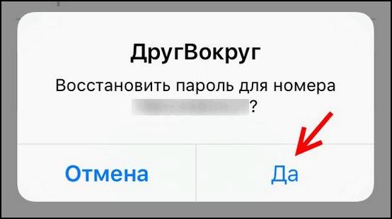 Подтвердить действия Друг Вокруг iOS