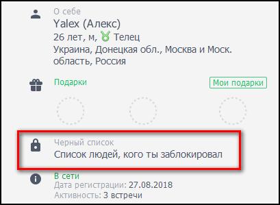 Список заблокированных в ДругВокруг
